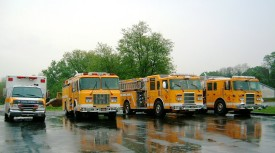 In the rain at Station 12.