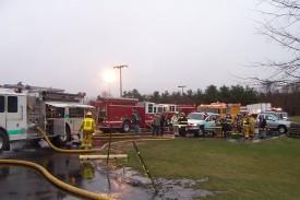 WGFC units on scene at the explosion at Gore in Maryland, 2005