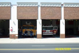 Ladder 22 on Standby at Five Points of New Castle County
