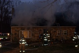 Dwelling fire scene, Mosquito Lane, London Grove Township