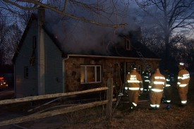 House fire in London Grove Township, Mosquito Lane