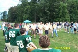 9-11 Ceremony, Assumption BVM Football