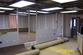 Meeting room renovations at Station 22, '03