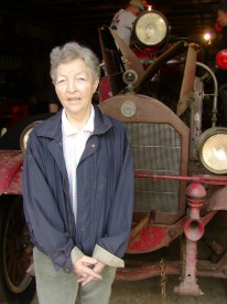 "The real ""Elsie"" poses with Antique 22"