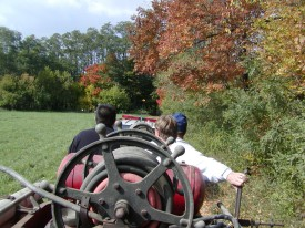 Antique 22 makes her way through fields and woods to her new home...