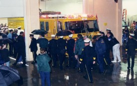 Rainy night for the housing of Engine 12, '98