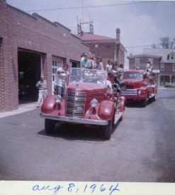 Fire truck rides in 1964