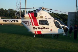 Skycare at helicopter safety training