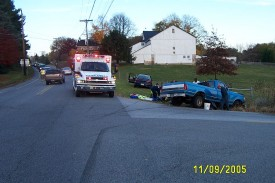 MVA at Routes 896 and 841