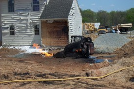Propane Fire on Gouge Lane
