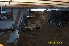 Basement collapse, Ewing Road