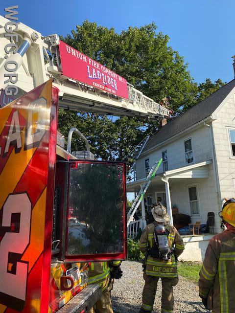 West Grove and area fire companies battled a third floor fire on this Franklin Township home on Route 841.
