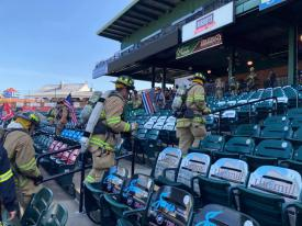 WGFC firefighters participated in the 10th Annual Lancaster 9-11 Memorial Stair Climb this past weekend to raise funds for the National Fallen Firefighters Foundation.