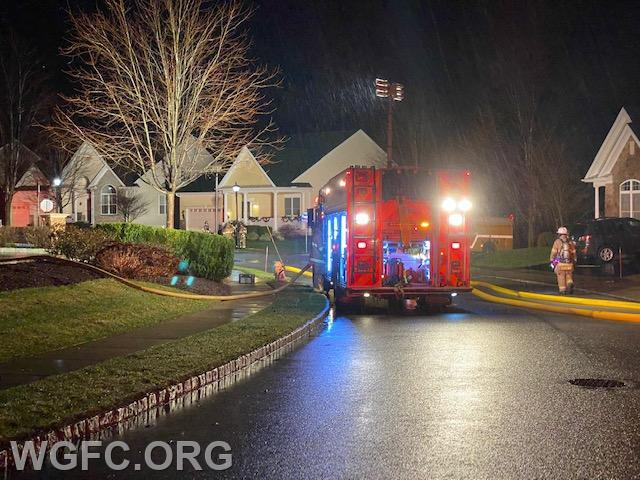 Rescue 22 provides a water supply and scene lighting.