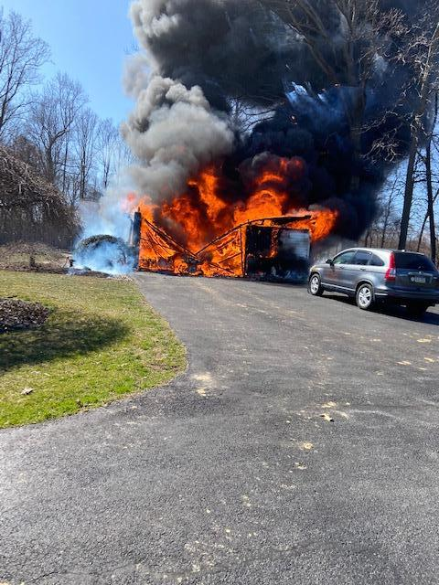 Firefighters from across the area battled this house fire on Elk Creek Road located in the fire district of the Union Fire Company of Oxford.  WGFC units were on scene for 2.5 hours.
