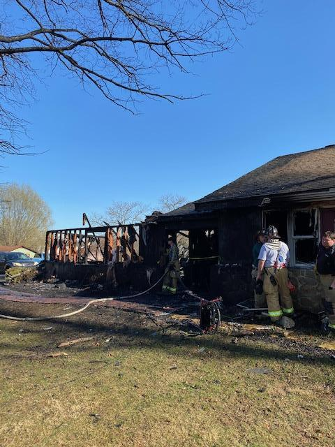 A fast fire attack helped keep damage from encroaching too far into the house.