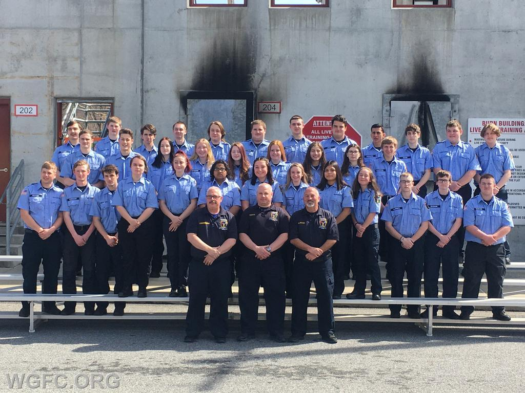 The OHSPSA Class for this year poses at the Chester County Fire School.