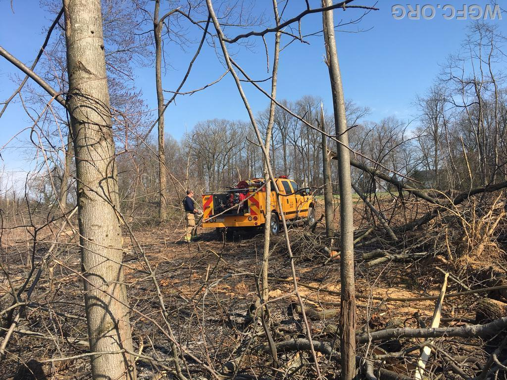 Brush 22 assists the Union Fire Company of Oxford on a 3-hour effort to extinguish burning brush in East Nottingham Township.
