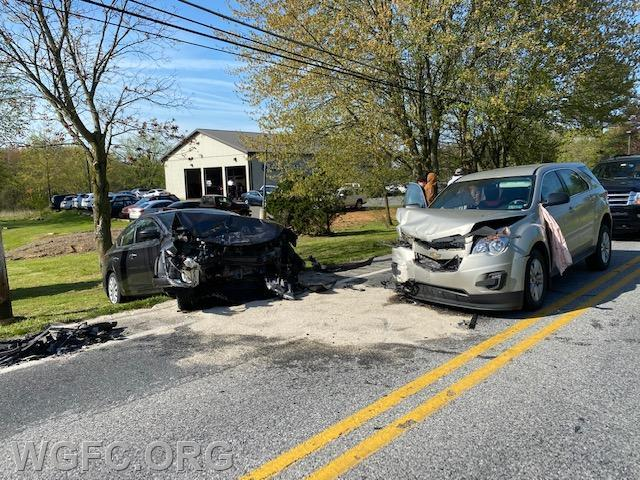 WGFC responded to this head-on crash on Route 896 in Franklin Township on Tuesday morning.