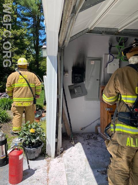 An electrical panel fire in London Britain Township was handled by WGFC and area Fire Companies.