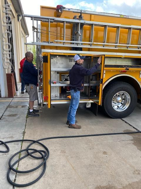 Clean, clean, clean -- it was Spring cleaning Saturday at the West Grove Fire Company.