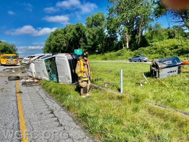 WGFC units handled a two vehicle crash on Route 1 in London Grove Township.