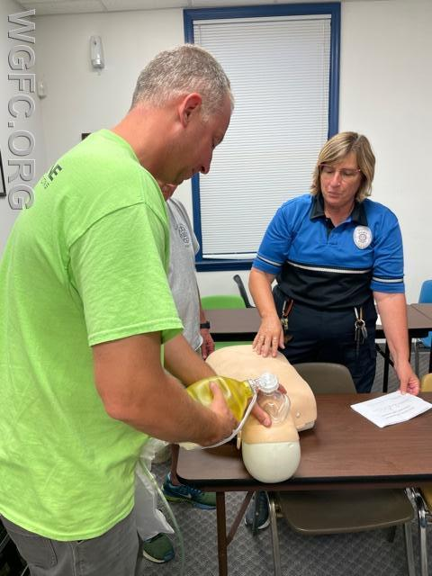 WGFC firefighters recently completed the company's annual refresher training on CPR and ambulance operations.