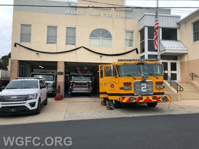 WGFC Engine 22-2 stands by at the Belmont Hills Fire Company in Montgomery County.