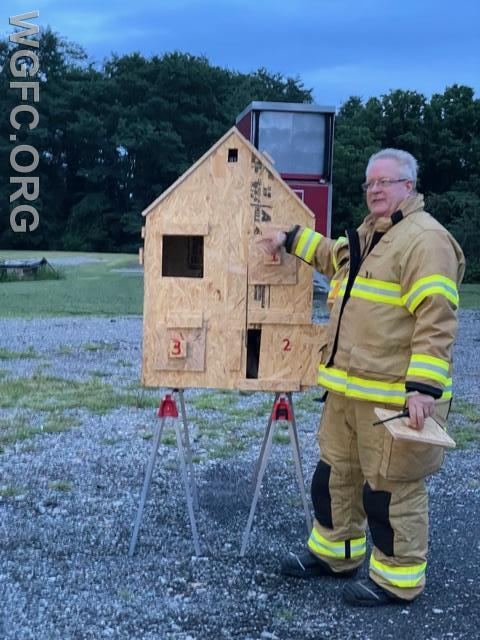 Safety Officer Bob Hannan explains how this custom- build model will demonstrate fire flows.