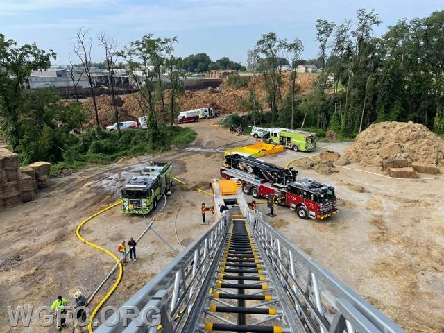 The operation as viewed from Ladder 22.