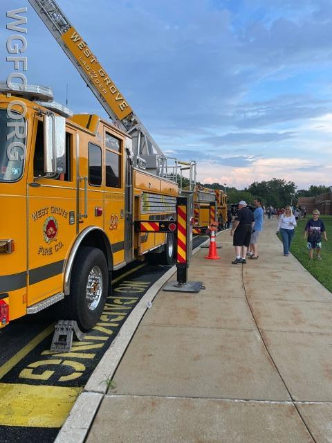 Both Ladder 22 and Engine 22-2 were on display.