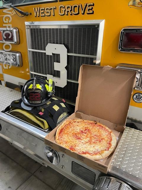 A smoke condition in a building housing Brothers Pizza resulted in a big turnout from the WGFC and area Fire Departments - and thank you pizzas from a trusted friend of the fire service.