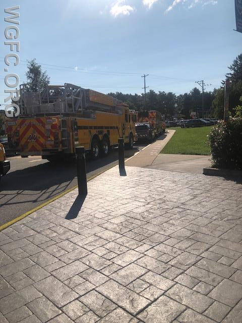 WGFC fire trucks in front of the AG Charter Elementary School in Kemblesville.