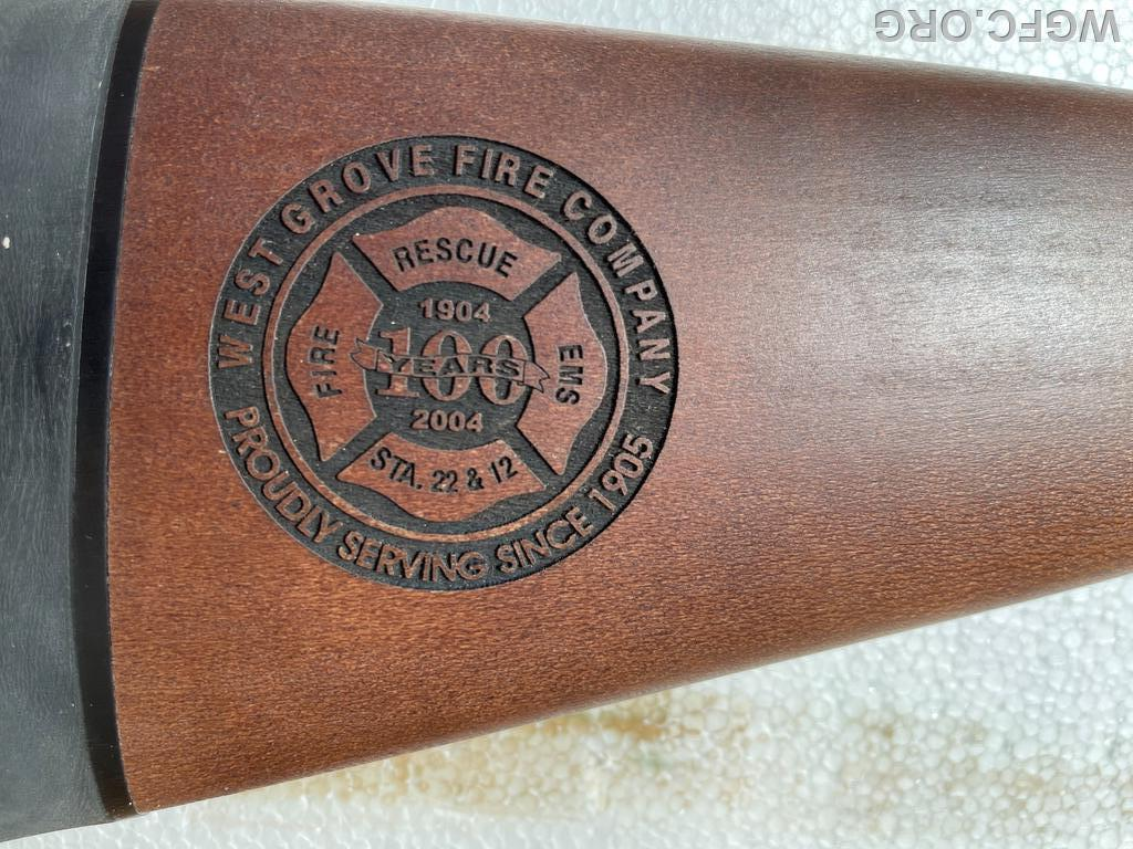 A limited-run of Remington Model 870 shotgun celebrated WGFC's 100th Anniversary in 2004.  One of the shotguns is being raffled off this fall to raise funds.