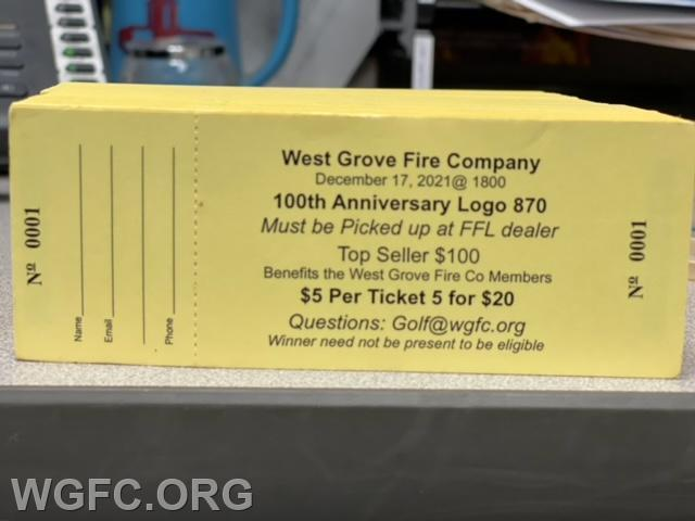 Each entry submitted to gunraffle@wgfc.org or to golf@wgfc.org will get a ticket for the raffle - and a photo of the ticket will be returned via email.