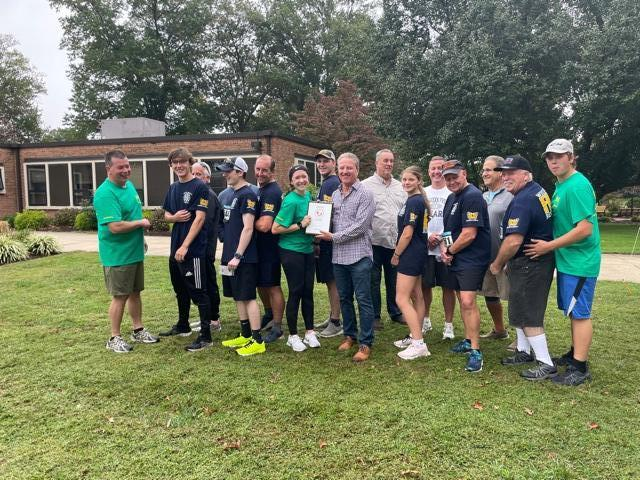 The WGFC team is honored along with our special team member, Lindsay Felker, for best emergency services team at the race.