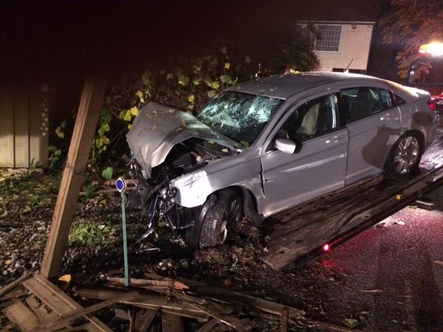 Vehicle Strikes House in London Britain Twp  - West Grove