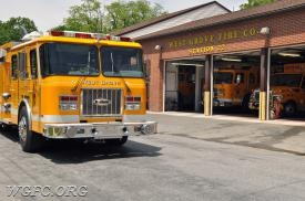 Rescue 22-2 leaves the West Grove station for the final time.