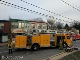 Ladder 22 at Sam's Sub Shop in Kennett