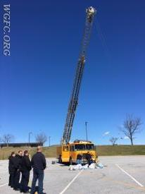 Ladder 22 serves as the platform for a lesson in middle school physics, as student-built egg containers are dropped 50 feet -- some would not make it...