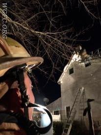 WGFC Captain Vattilana observes the Ladder 22 crew at work.