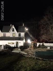 This Franklin Township home suffered minimal damage as the WGFC attacked a fire in the roof peak adjacent to an active chimney.  Five neighboring fire companies were also dispatched to this scene.