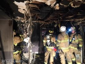 Crews faced extensive overhaul to expose pockets of fire and assure total extinguishment.