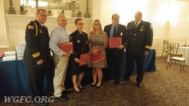 EMS Captain Hughes and FF/EMT Foy honored for a successful cardiac arrest save