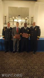 FF/EMT P. Brown and Paramedic Keith Laws honored for a pre-hospital delivery