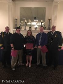 FF/EMT Staud, FF/EMT DeMarco and FF/EMT Vickers honored for a successful cardiac arrest save