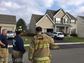 The class looked at first in fire engine and ladder placement in a typical housing development -- in this case Radence Lane in London Grove Township.