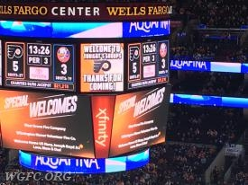 WGFC is listed as a first responder organization on the Flyer scoreboard