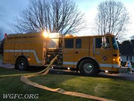Engine 22-3 was used to be the simulated fire scene first in truck.  22-3 was supplied by both a tanker truck and then a water shuttle operation.