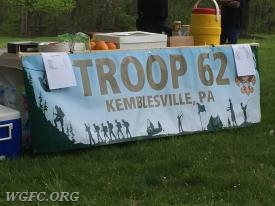 Local Troop provided some much needed snacks for the racers!